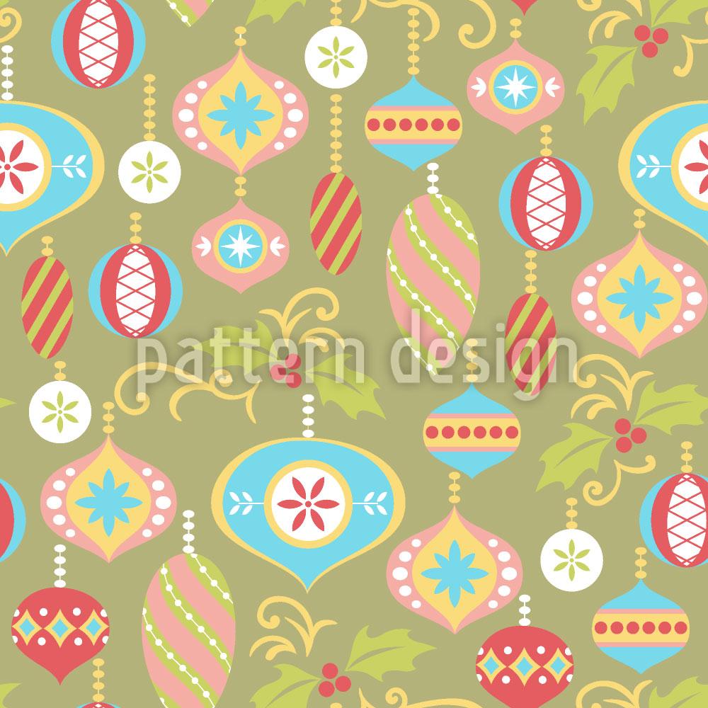 Designtapete Dekorative Weihnacht