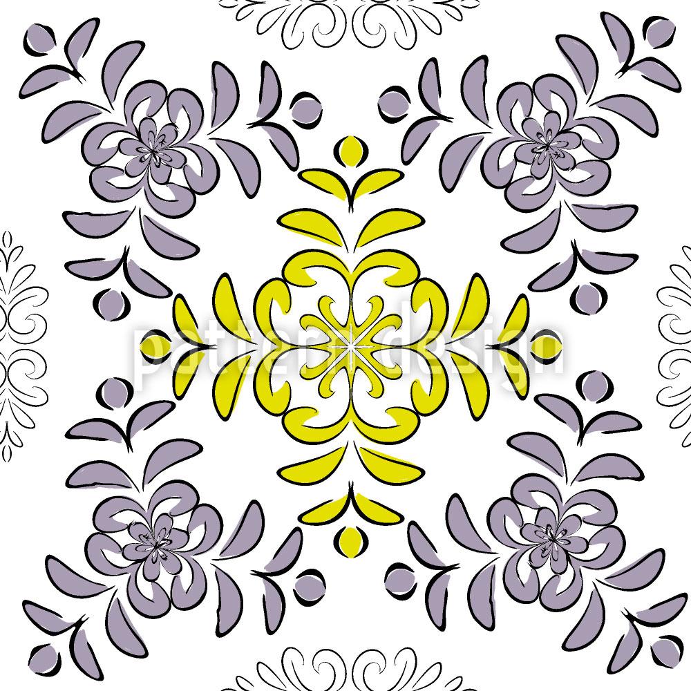 Designtapete Florale Geometrie