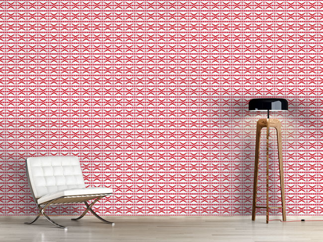 Designtapete Mosaik Streifen