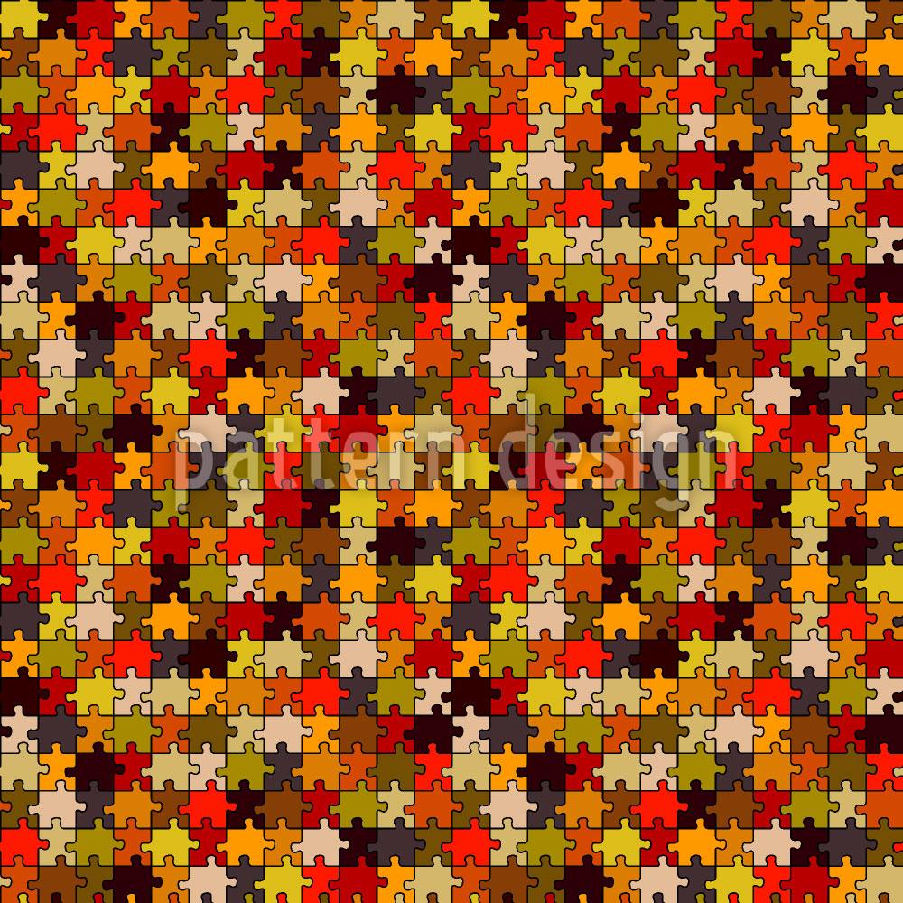 Designtapete Retro Puzzle