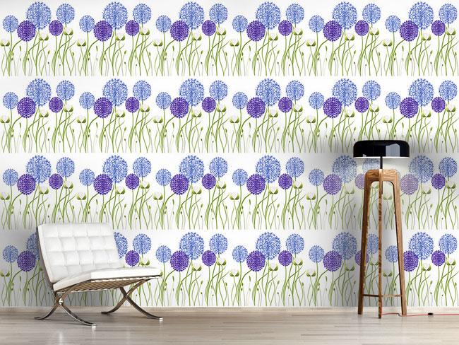 Designtapete Allium Garten