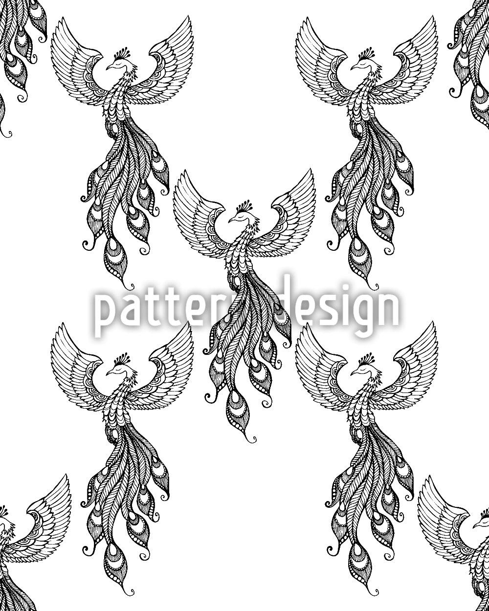 Designtapete Aufsteigender Phoenix