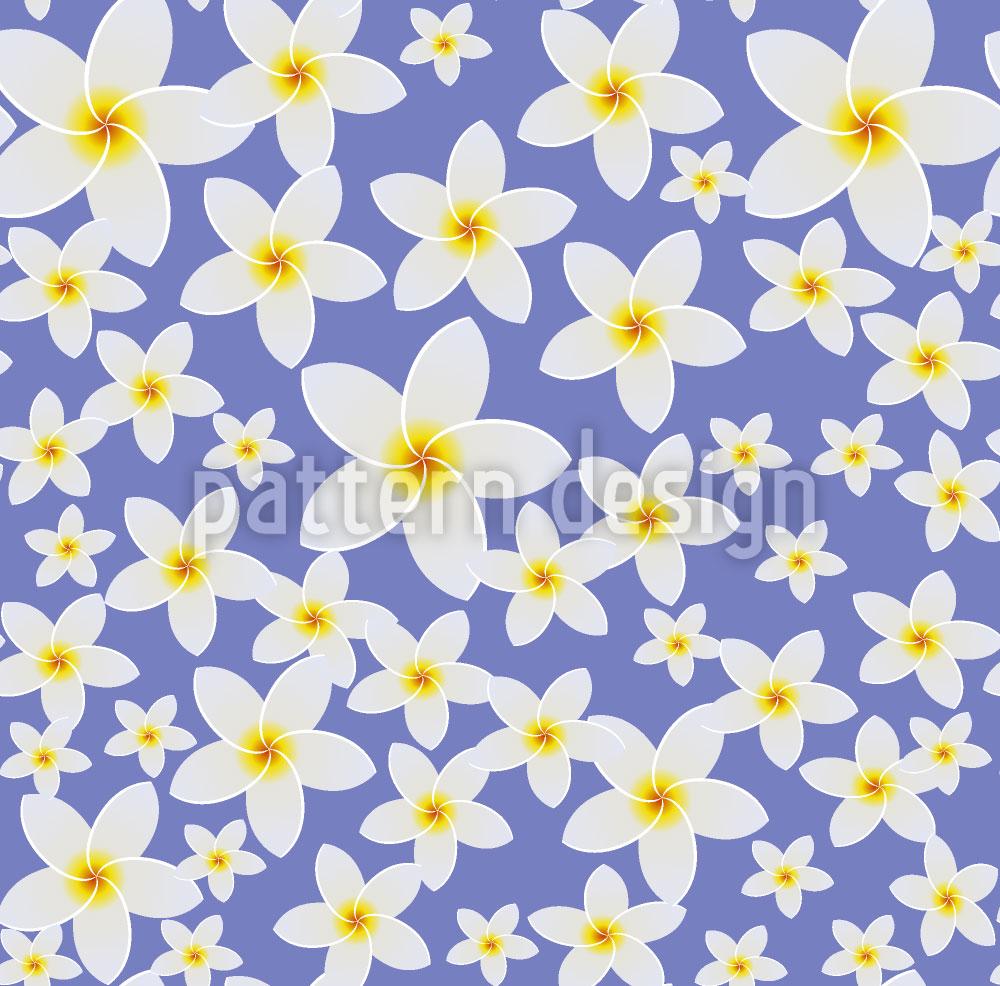 Designtapete Frangipani Blüte