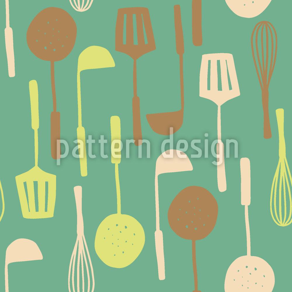 Designtapete Küchenutensilien