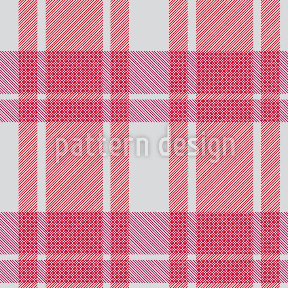 Designtapete Tartan Pink