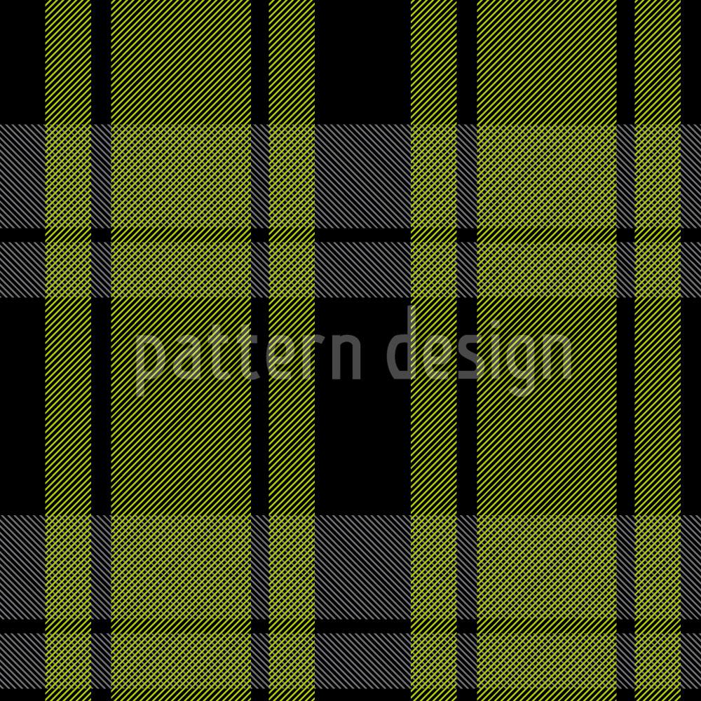 Designtapete Tartan Schwarzgrün