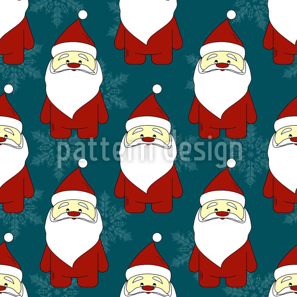 Designtapete Weihnachtsmann