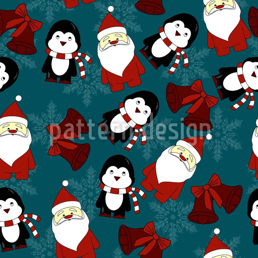 Designtapete Santas Kleiner Helfer