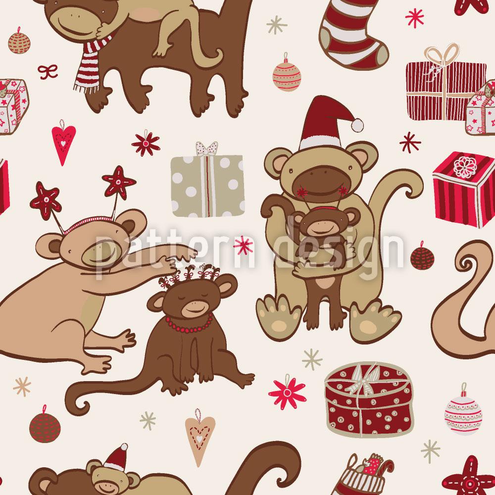 Designtapete Affige Weihnachten
