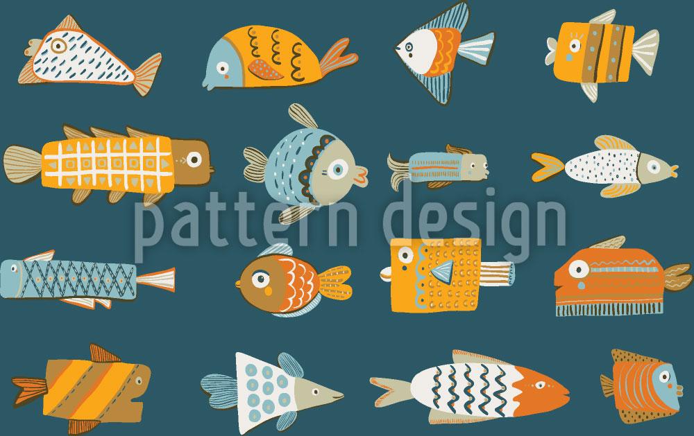Designtapete Lustige Fische