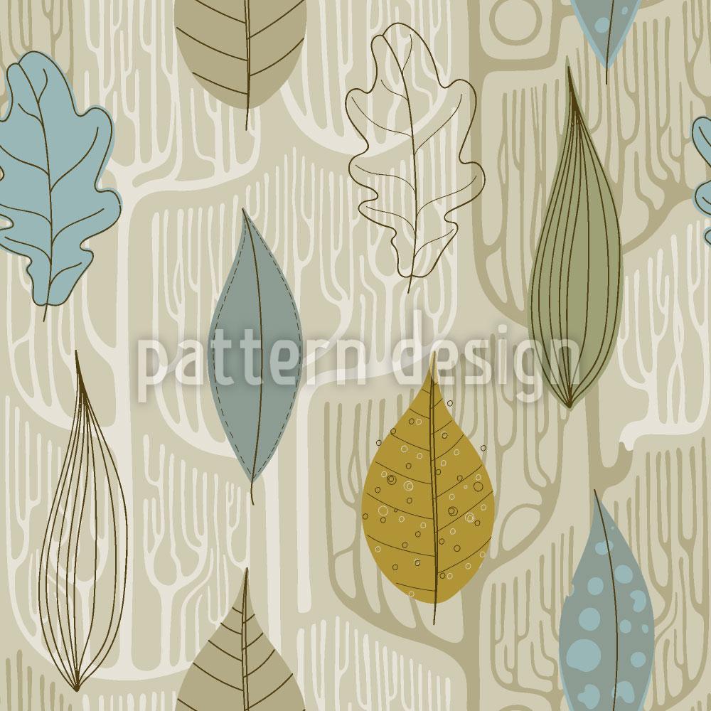 Designtapete Bäume Und Blätter