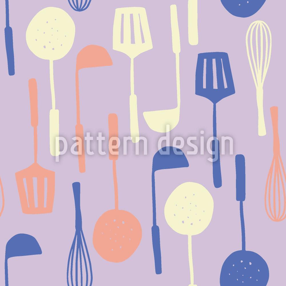 Designtapete Meine Küchenutensilien