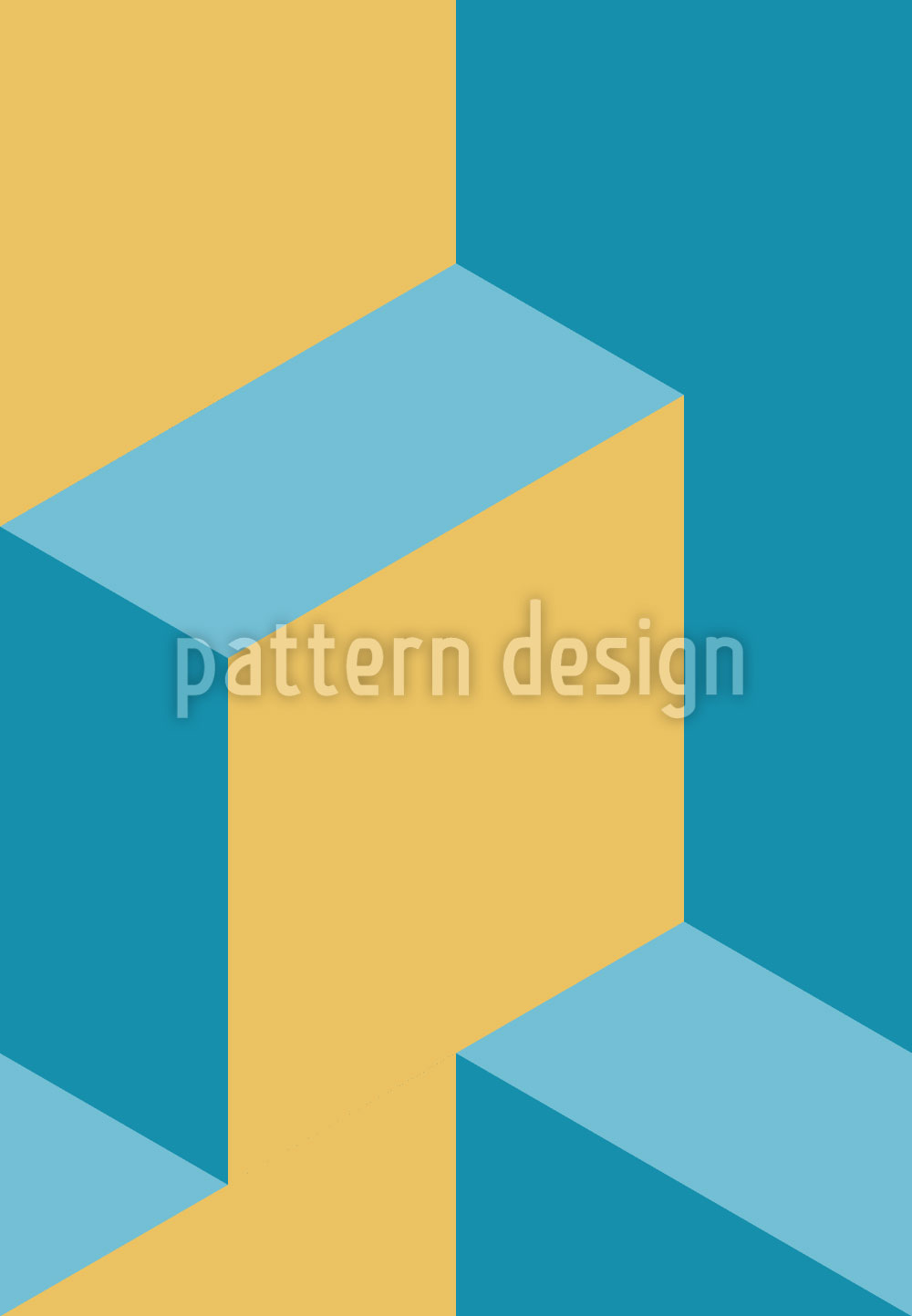 Designtapete Isometrische Stufen