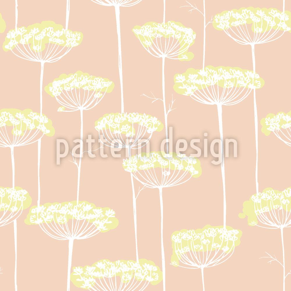 Designtapete Fenchel Blüten