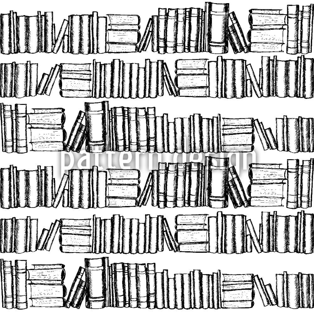 Designtapete Alte Bücher