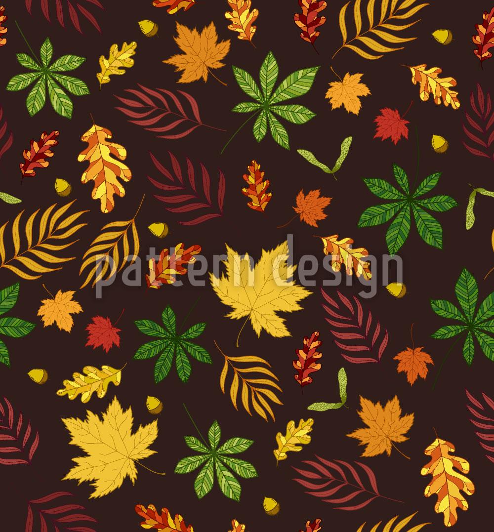 Designtapete Ich Mag Blätter