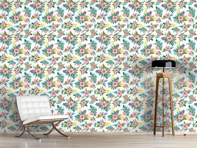 Designtapete Blumen Bouquet