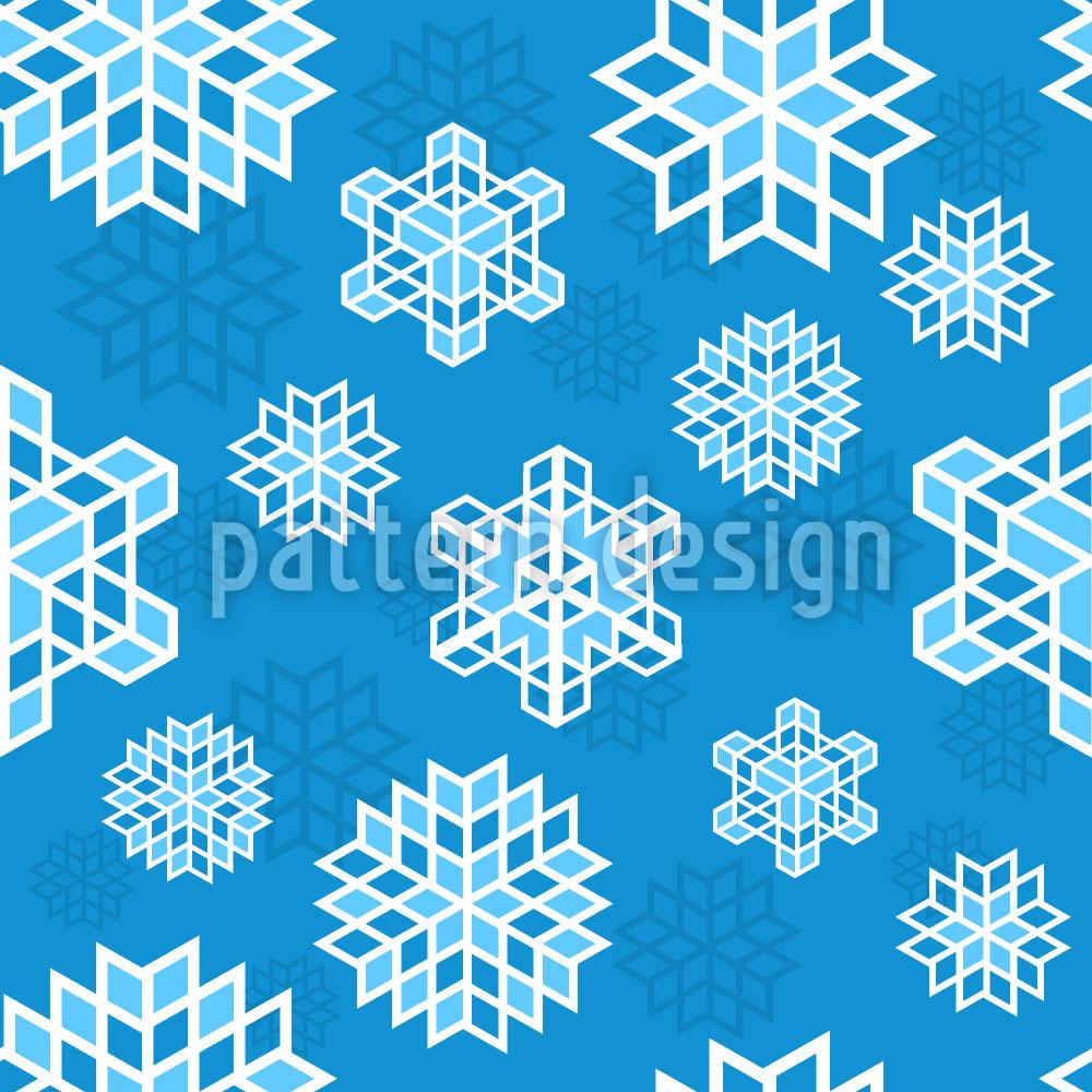 Designtapete Coole Schneeflocke