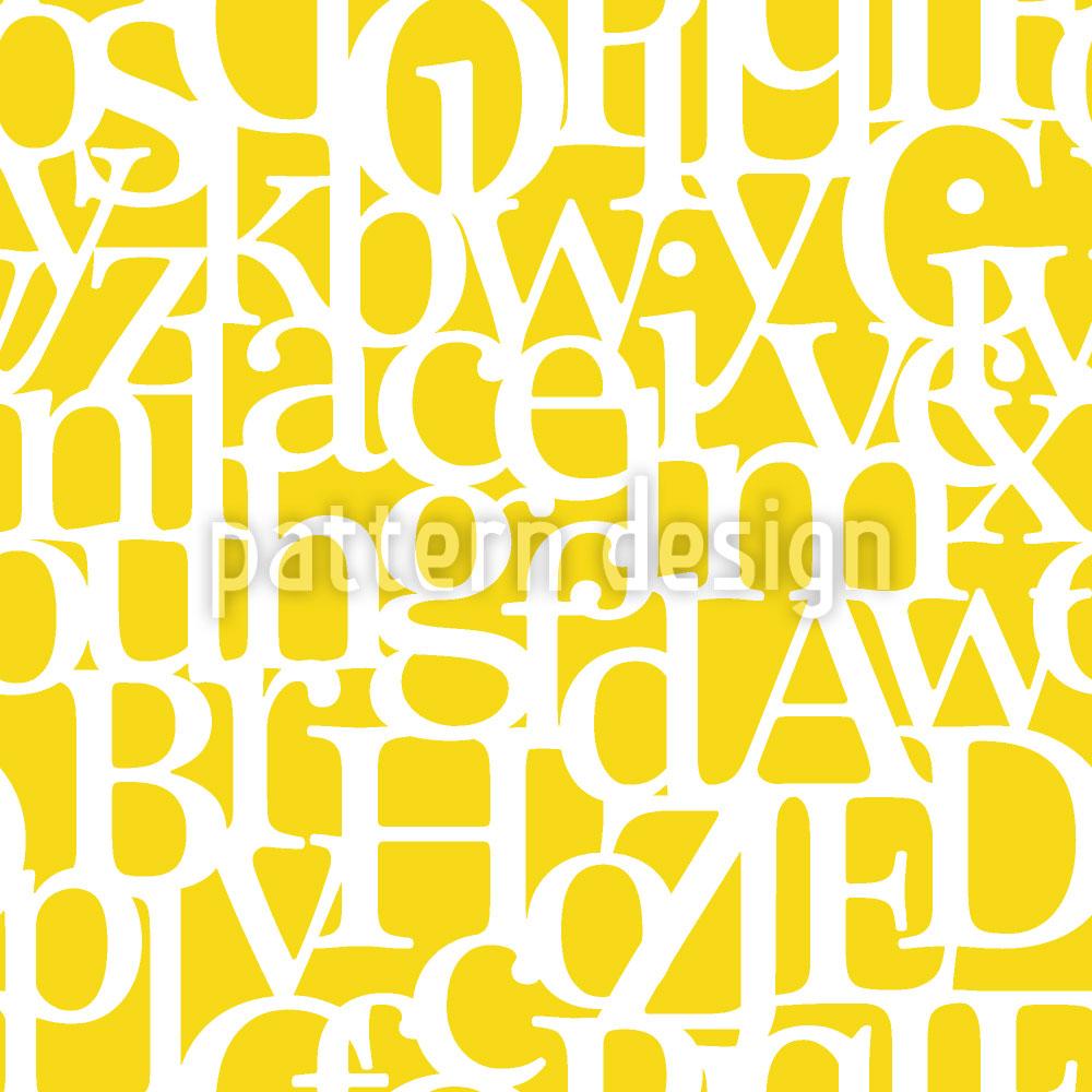 Designtapete Buchstabencode