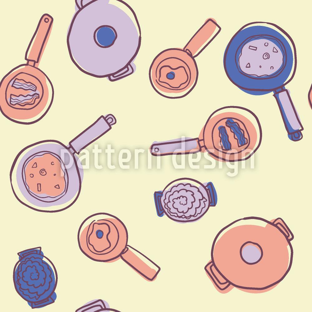 Designtapete Kochtöpfe und Pfannen