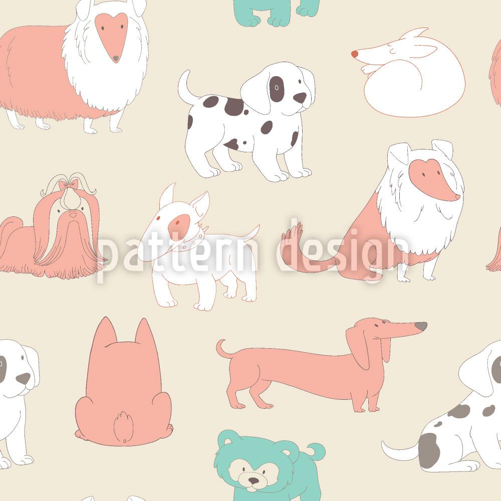 Designtapete Niedliche Hunde
