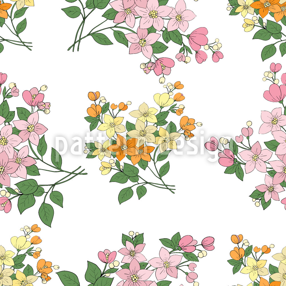Designtapete Mille Fleurs Aus Frankreich