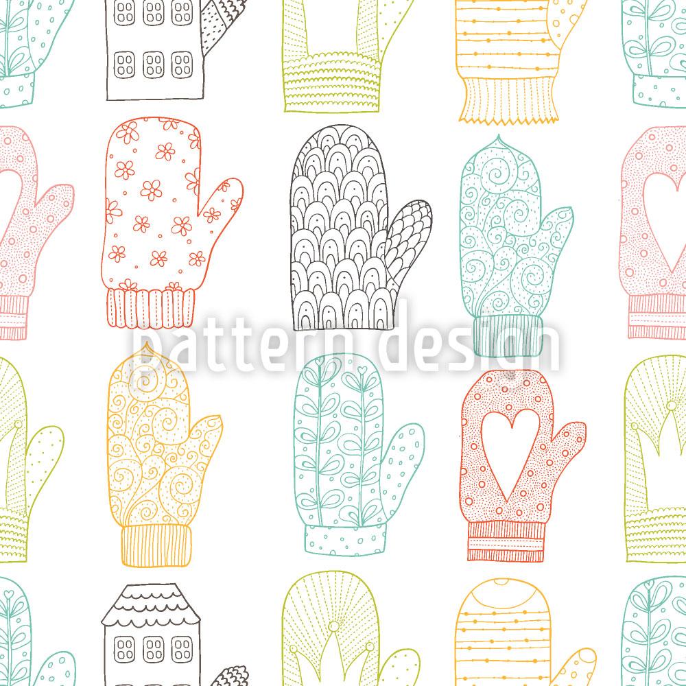 Designtapete Handschuhe
