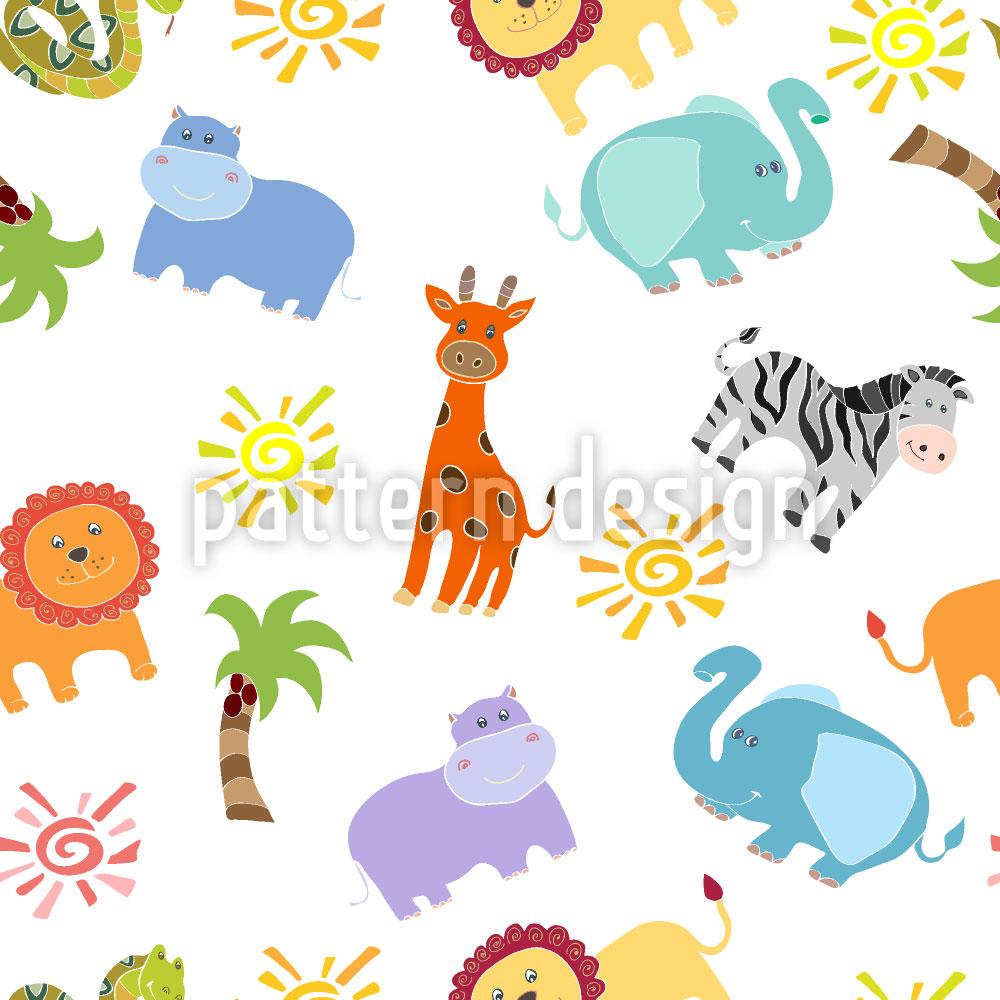 Designtapete Afrikanische Tiere