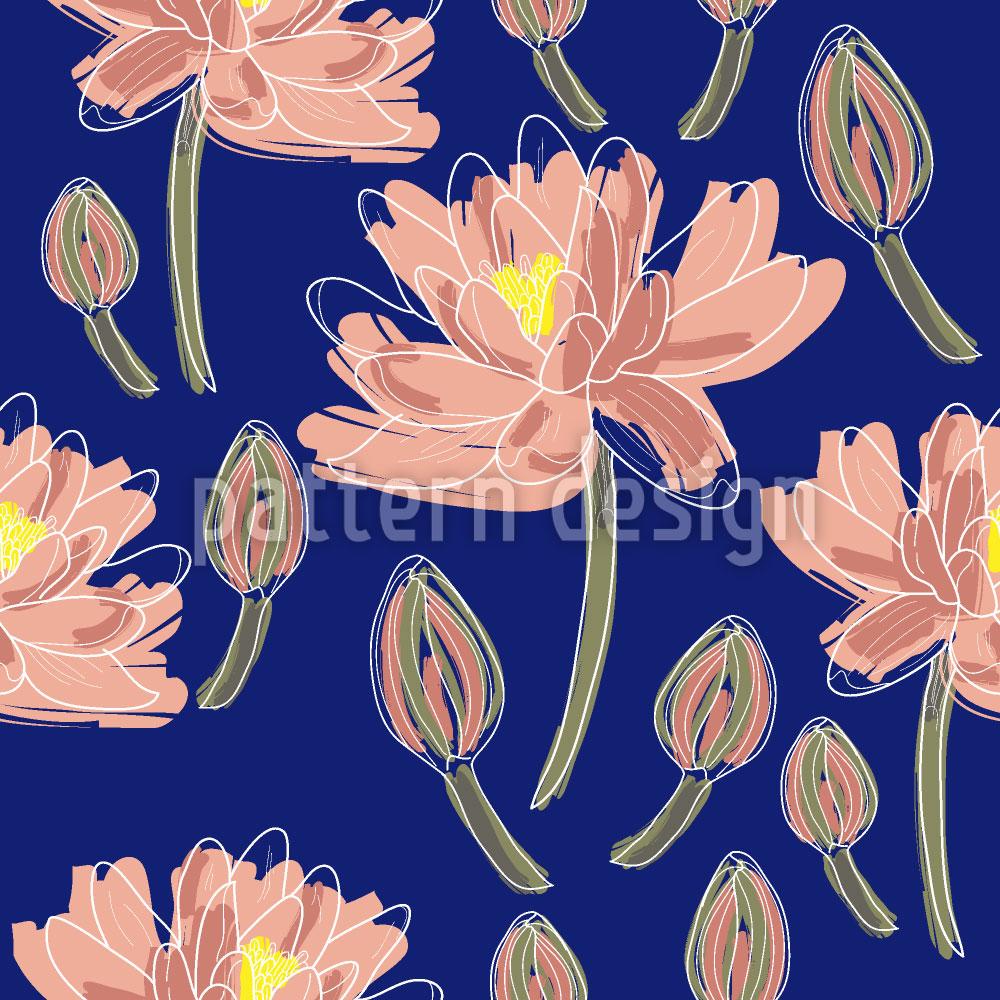 Designtapete Lotus Blumen Tanz