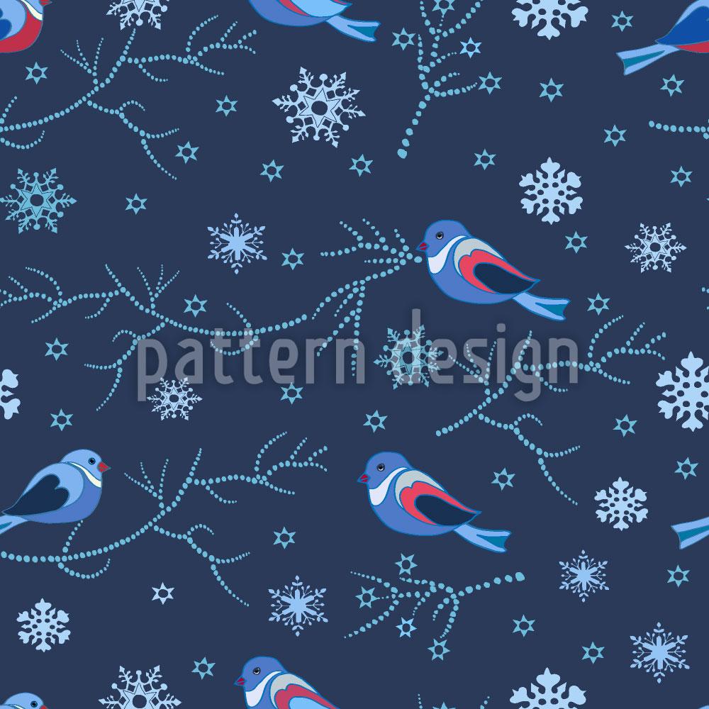 Designtapete Vögel Im Winter