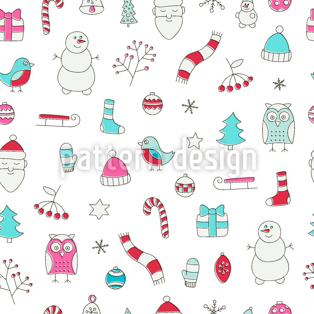 Designtapete Weihnachtsträume