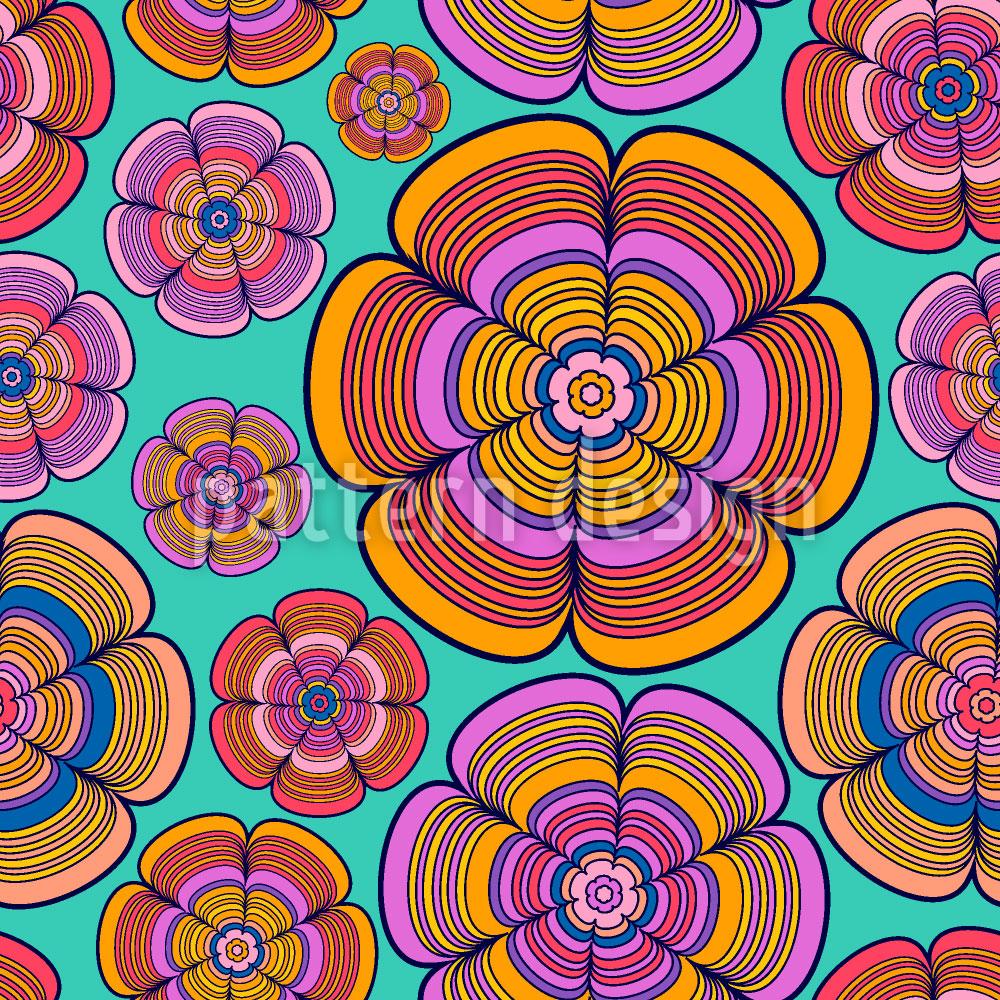 Designtapete Funky Flower Power