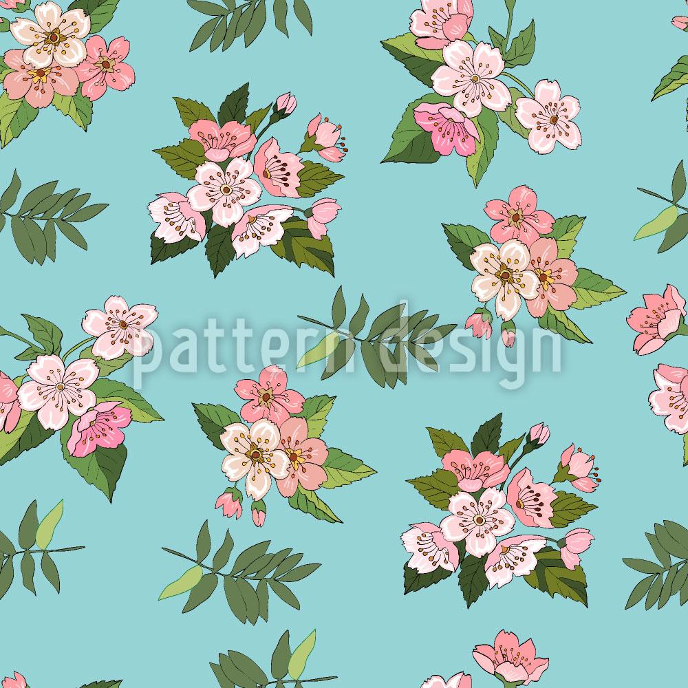 Designtapete Kirschblüten