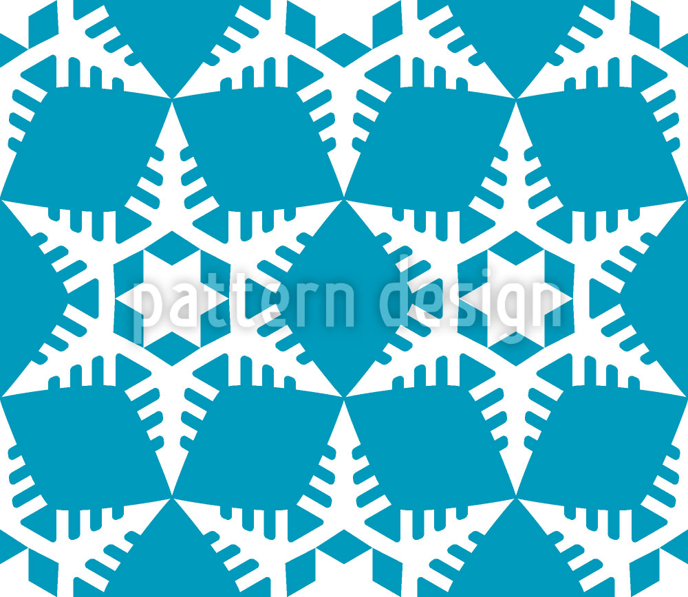 Designtapete Scherenschnitt Schneeflocken