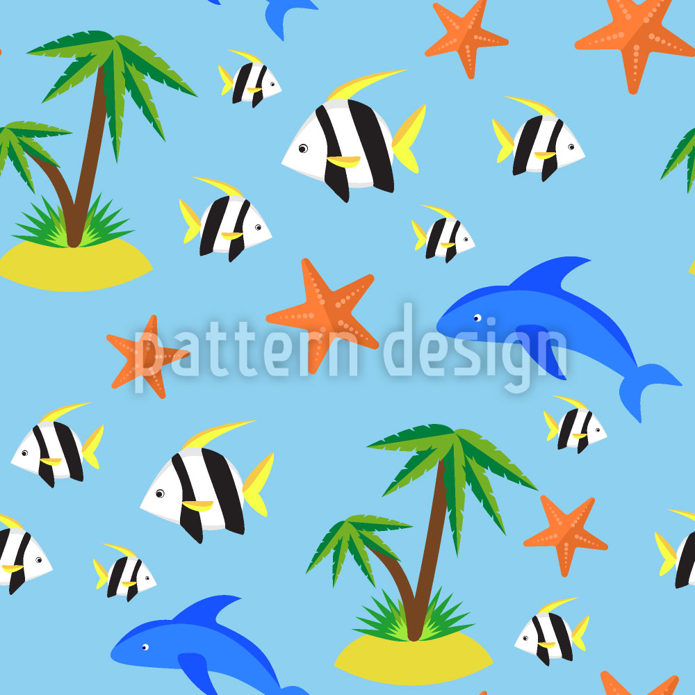 Designtapete Tropische Insel