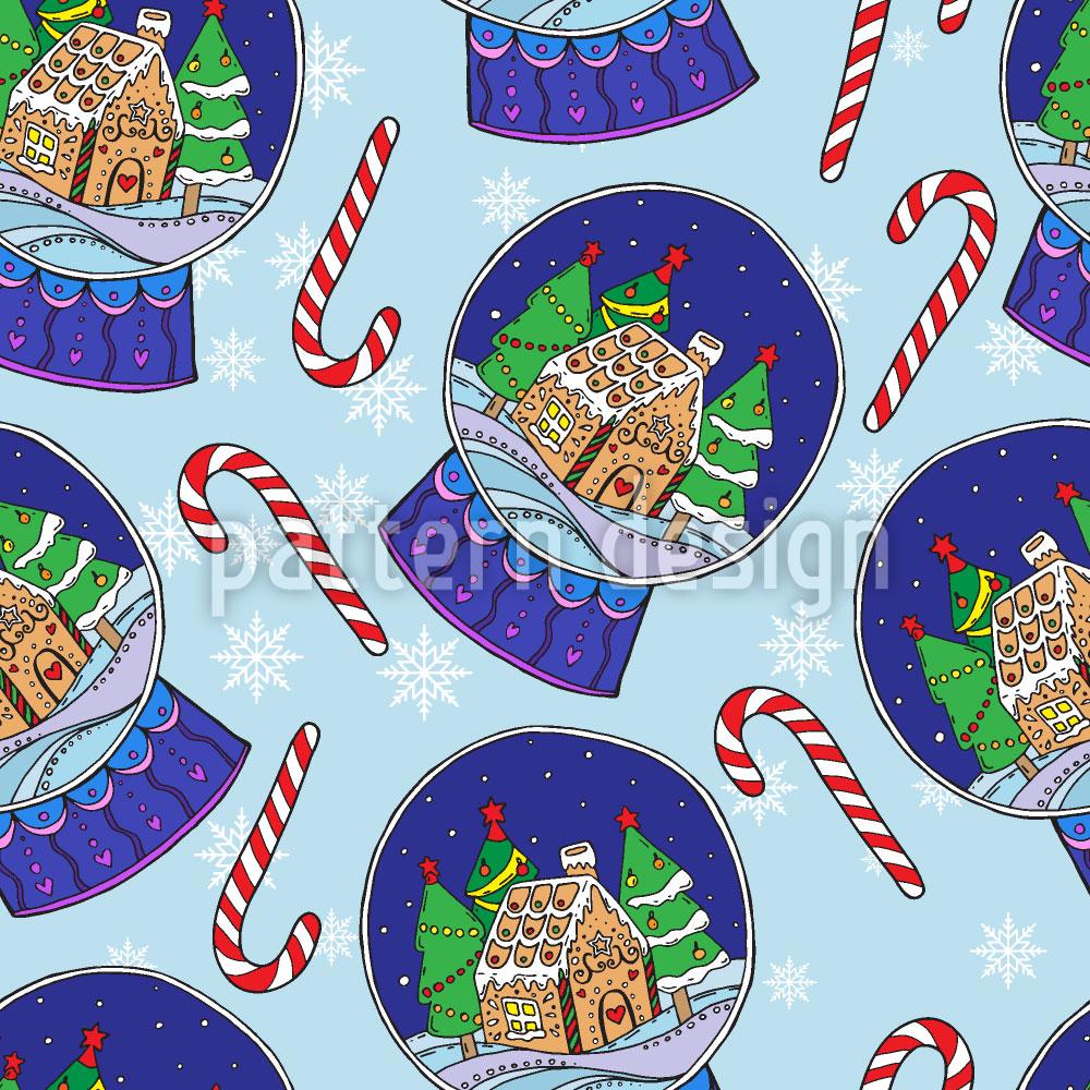 Designtapete Weihnachts Schneekugeln