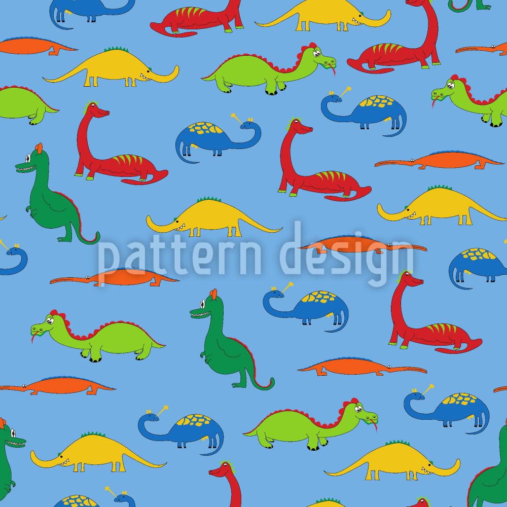 Designtapete Drachen und Krokodile