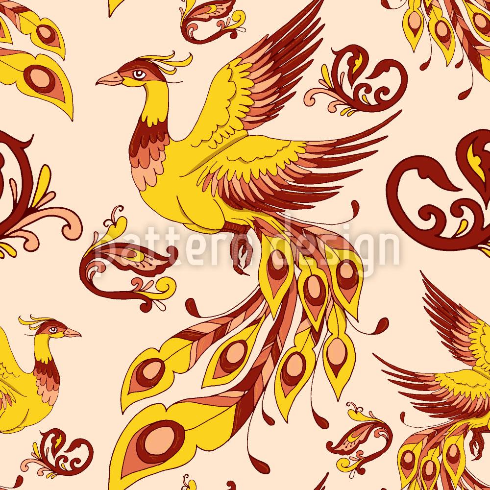 Designtapete Feuervogel