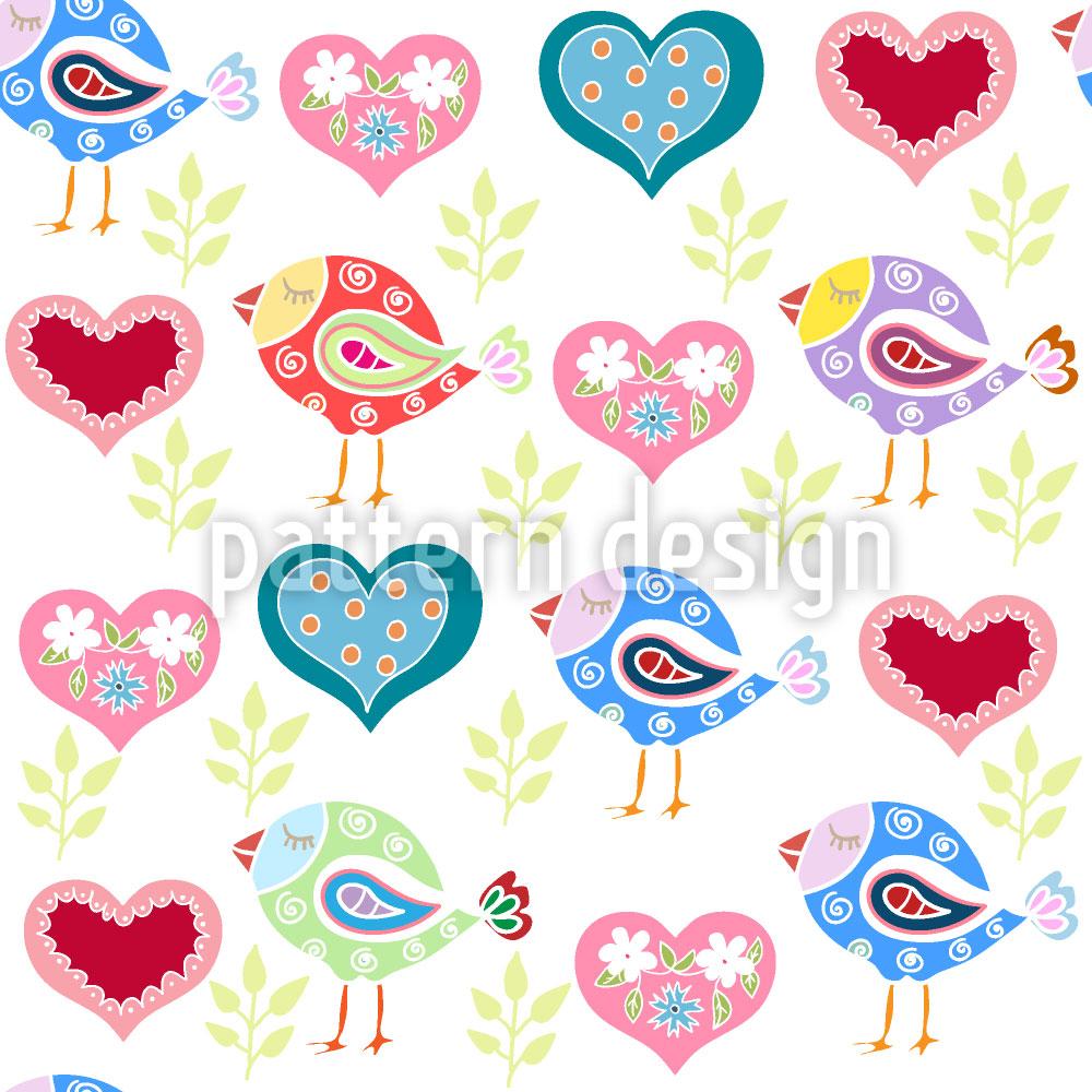 Designtapete Liebe Vögel