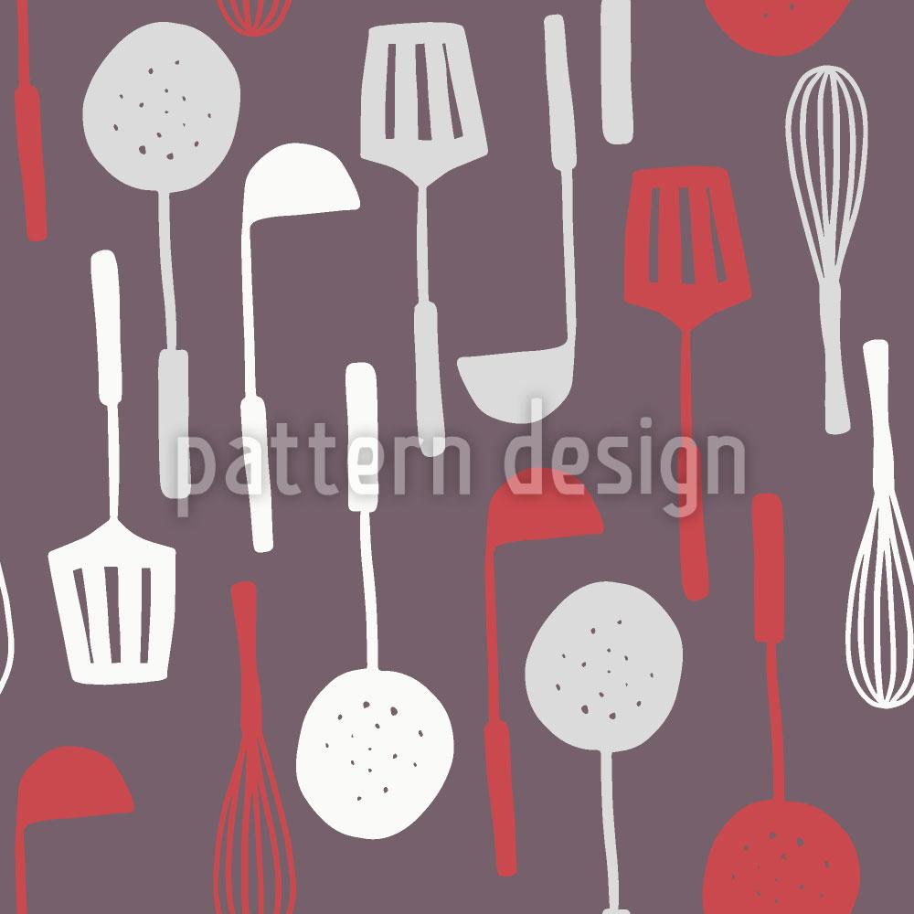 Designtapete Muttis Küchenutensilien
