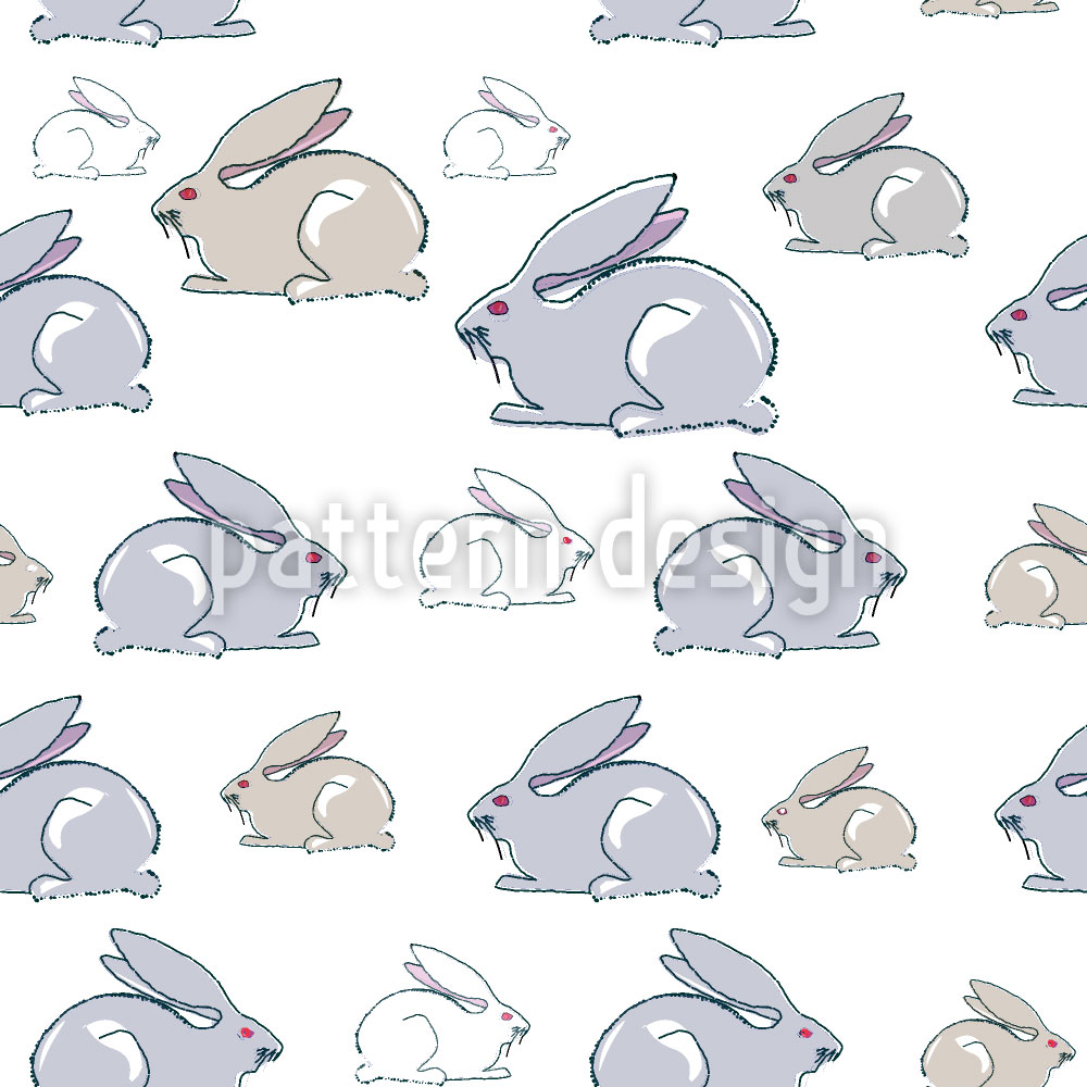 Designtapete Kaninchen Familie