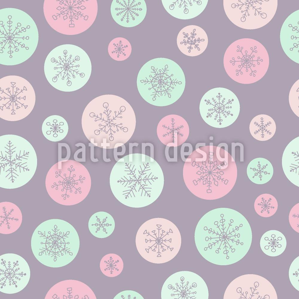 Designtapete Schneeflocke In Einer Blase