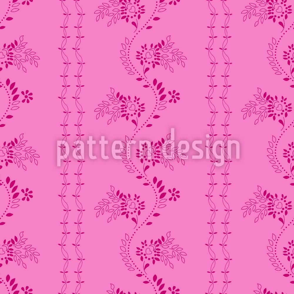 Designtapete Blumen Auf Deinem Kleid