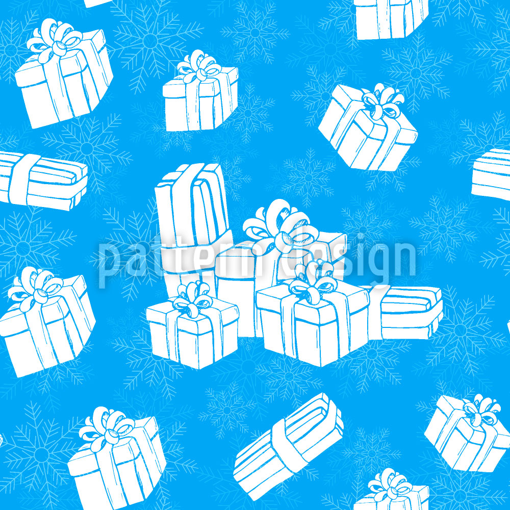 Designtapete Winter Geschenke