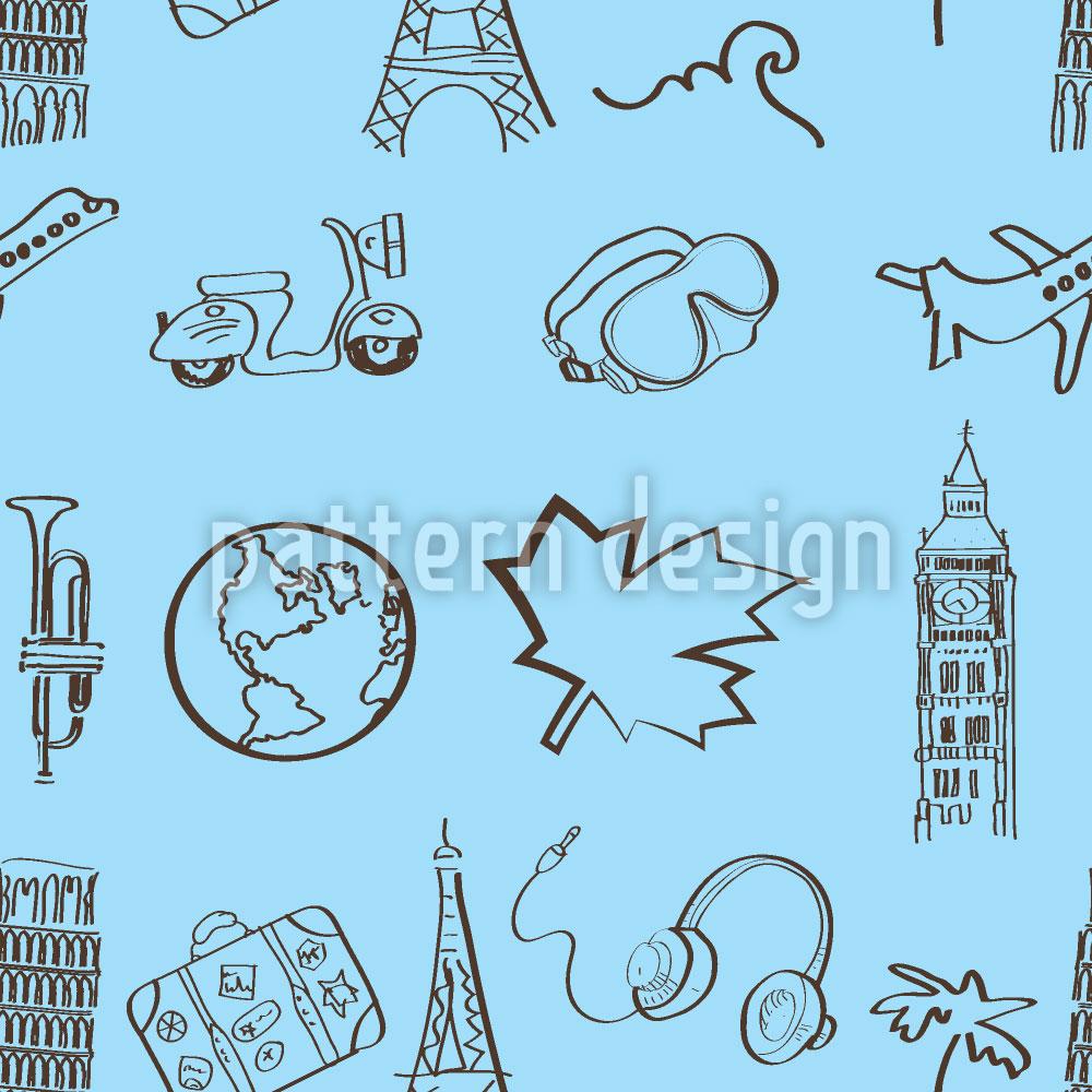 Designtapete Welt Reisender