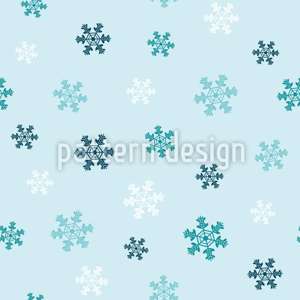 Designtapete Winter Schneeflocken