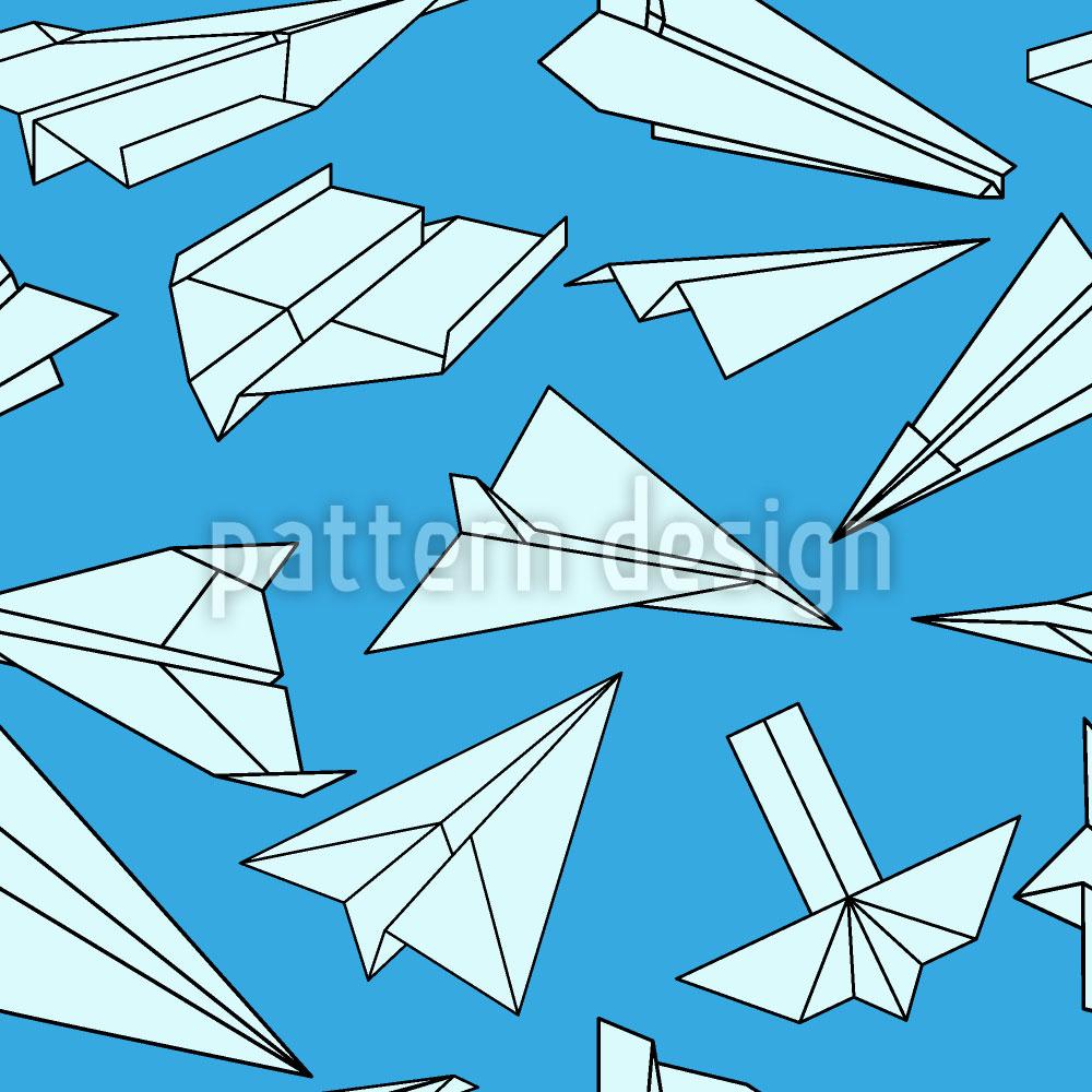 Designtapete Voller Papierflieger