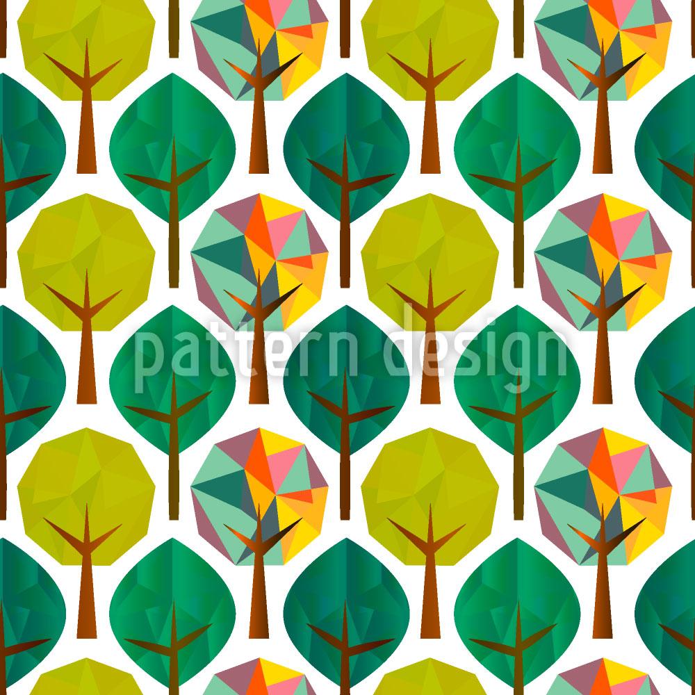 Designtapete Geometrische Bäume