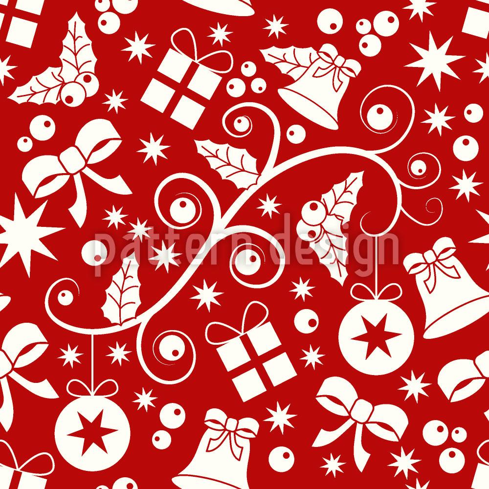 Designtapete Weihnachtsvorbereitungen