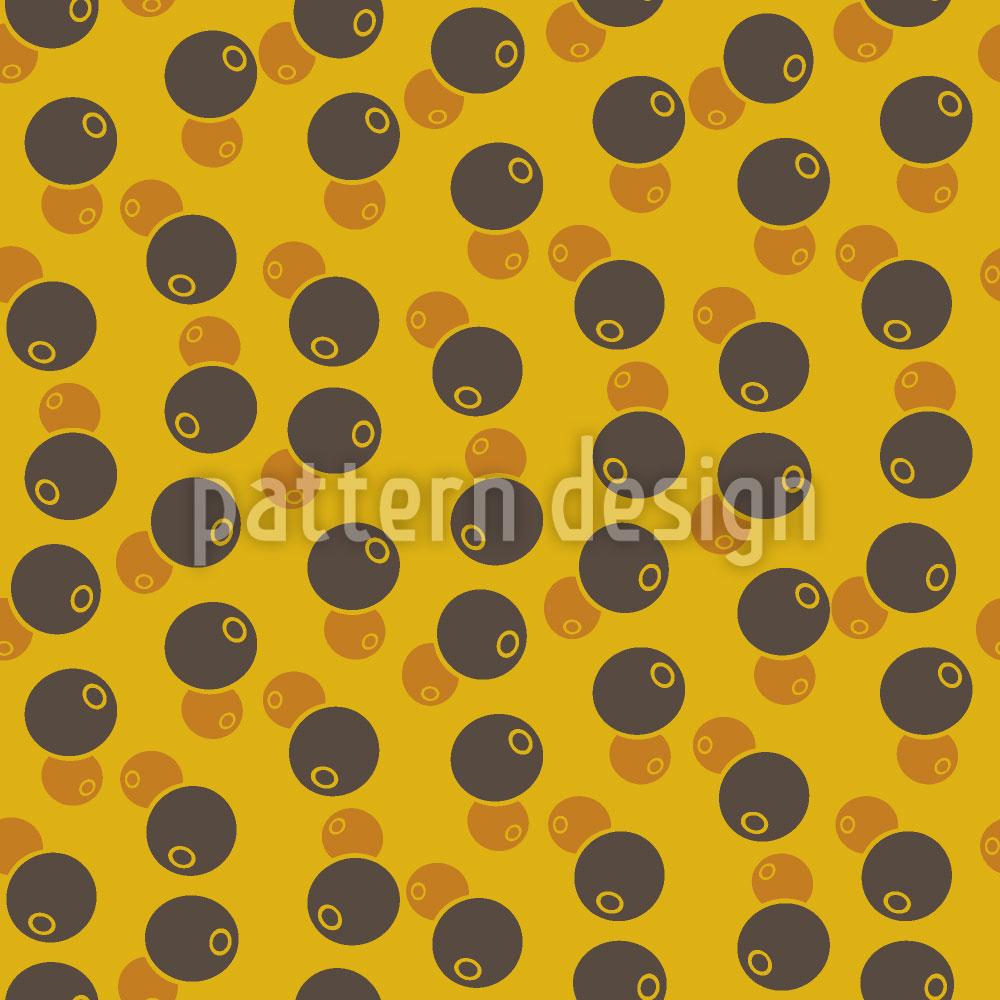 Designtapete Afro Bohnen